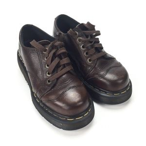 Dr Martens Brown Leather Oxford Shoes